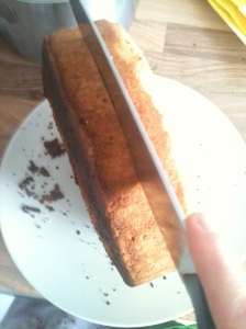Slice in half
